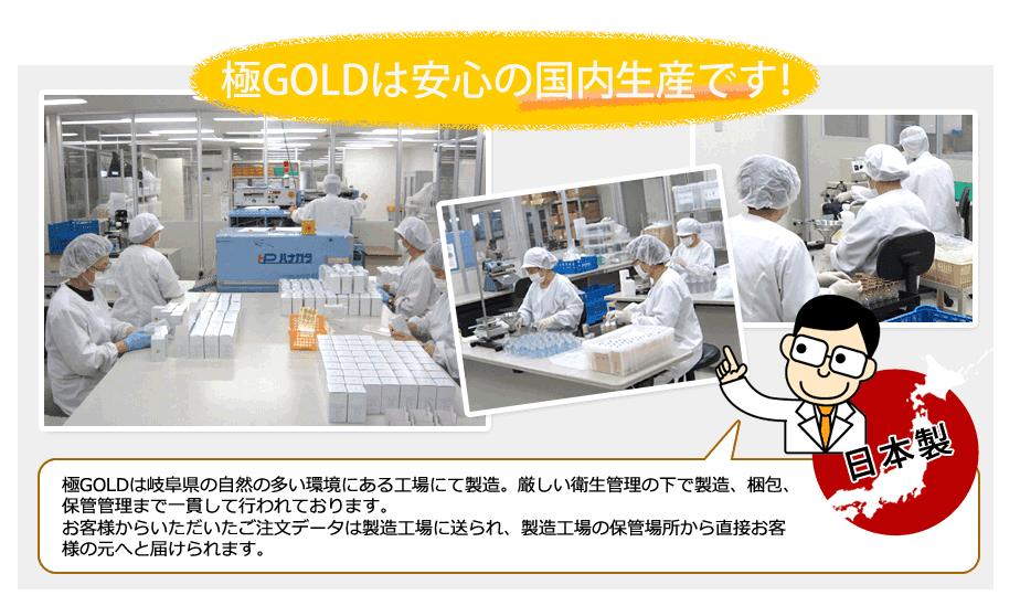 極GOLD国内生産工場