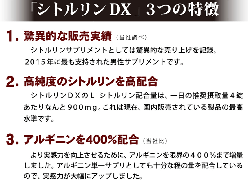シトルリンDXの成分
